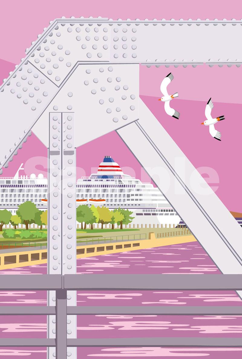 image of すき間から見えた大桟橋