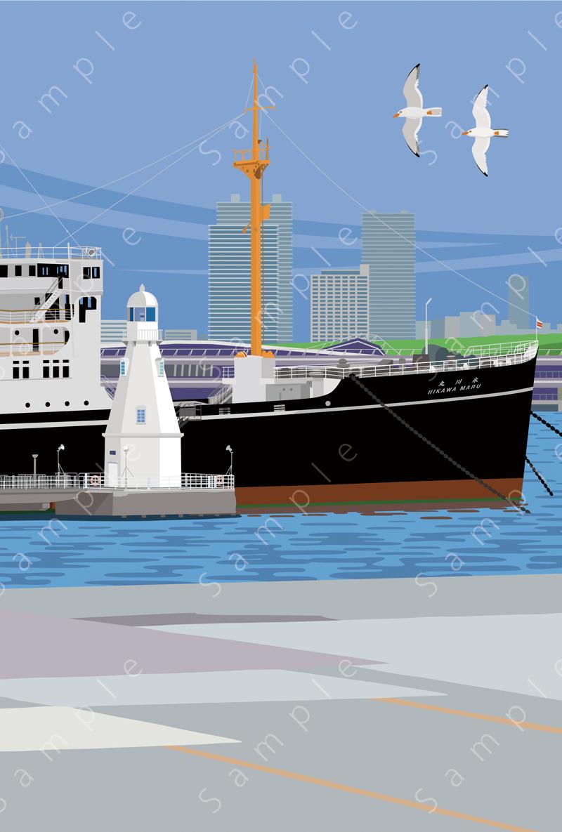 image of 氷川丸と灯台